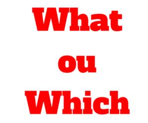 Quando usar What ou Which nas Frases em Ingles: Diferença entre eles