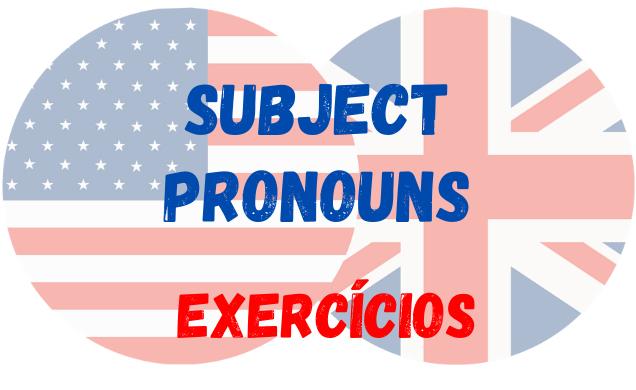 inglês subject pronouns