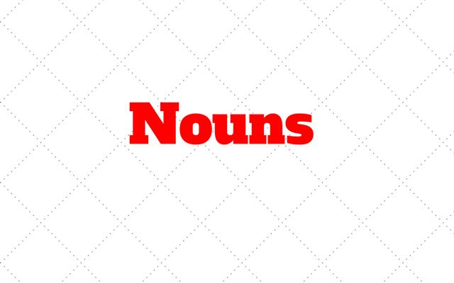 Nouns: Aprenda Substantivos em ingles