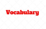Vocabulary: Palavras em ingles Bastante usadas, com exercício e Gabarito