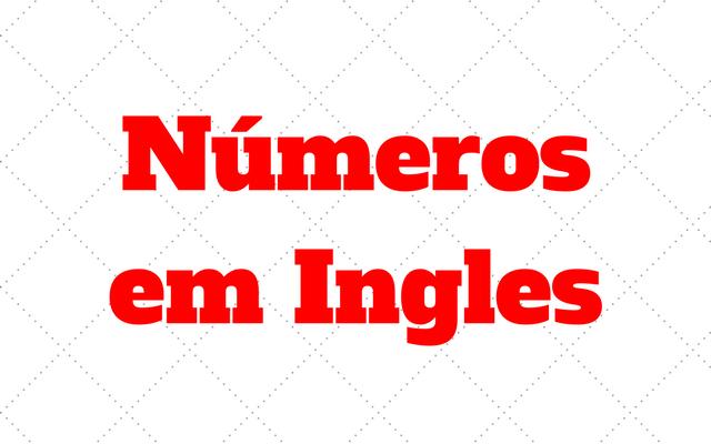 números em ingles