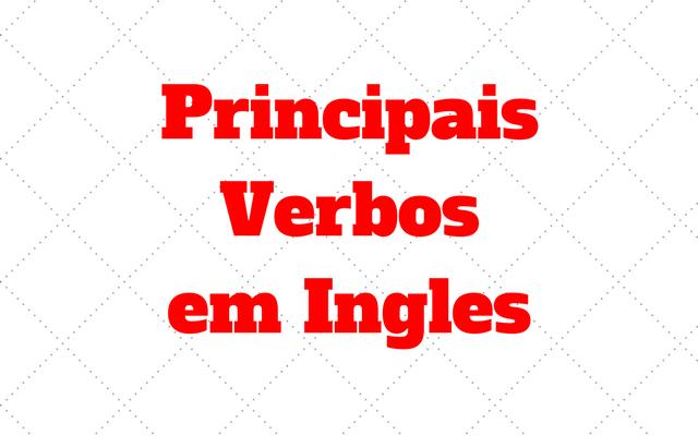 principais verbos