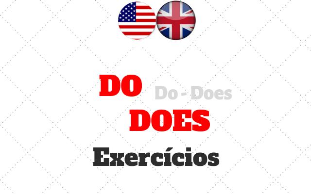 do does exercícios inglês