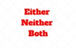 Quando usar Either, Neither e Both: Qual a diferença no Ingles
