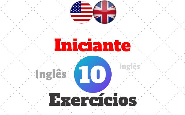 inglês exercícios iniciante