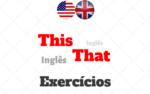Exercícios This e That com Respostas