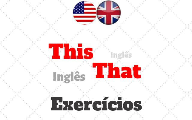 ingles this that exercícios