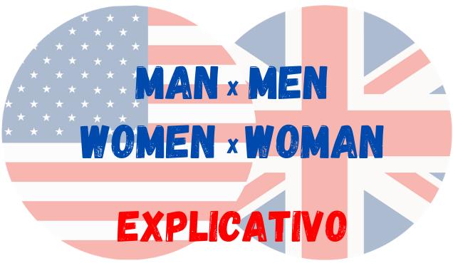 inglês man e men women e woman