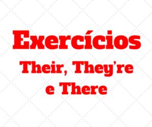Exercícios sobre their, they're e there com gabarito