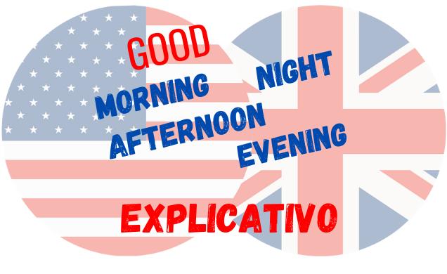 inglês good Morning afternoon evening night