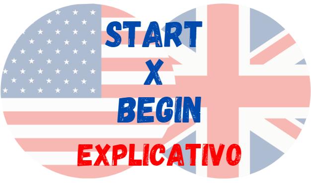 start begin inglês