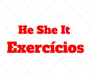 He She e It Exercícios