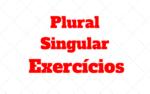 Plural e Singular Exercícios