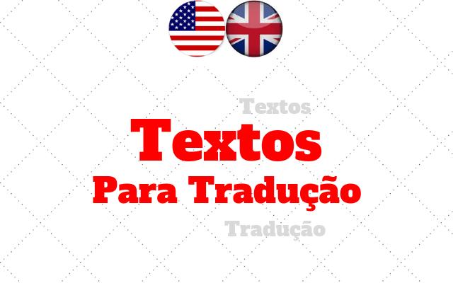 ingles textos para tradução