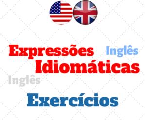 Expressões Idiomáticas – Atividades