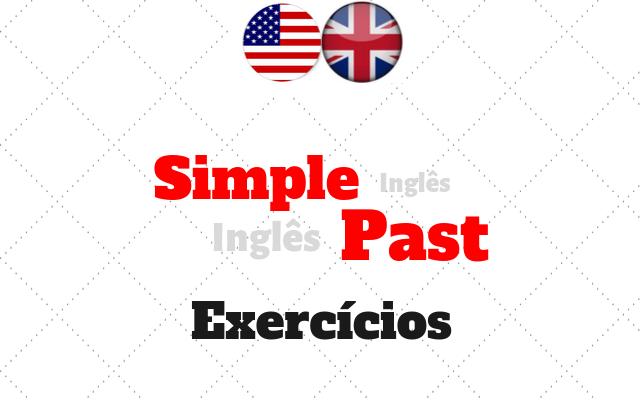 inglês simple past exercícios