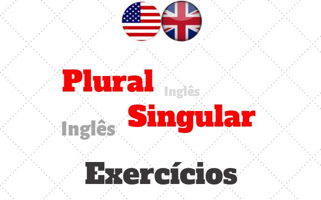inglês plural singular exercícios