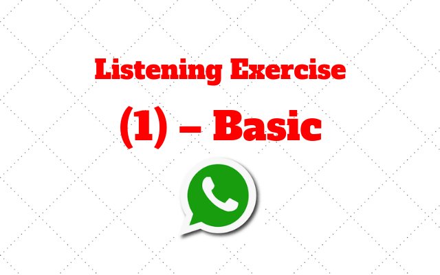 listening exercise 1 basic