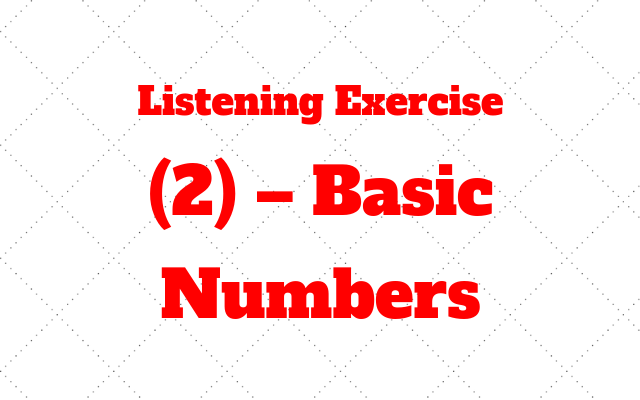 listening exercise basic numbers