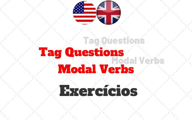 inglês tag questions modal verbs atividades