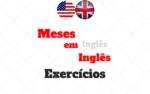 Meses em Inglês Exercícios