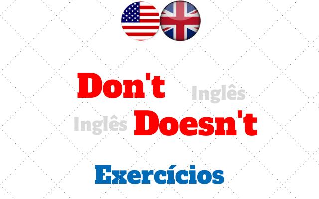 inglês do not does not exercícios
