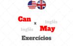CAN x MAY – Exercícios