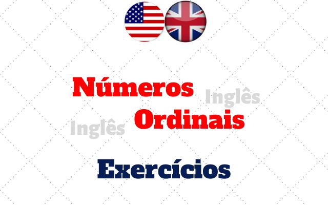 inglês números ordinais exercícios