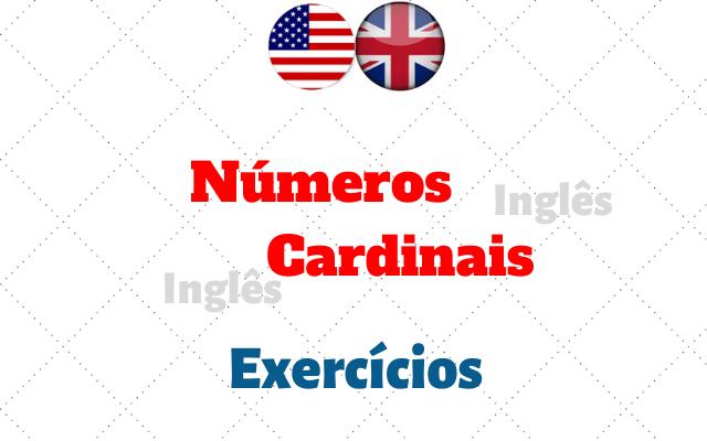 inglês números cardinais exercícios